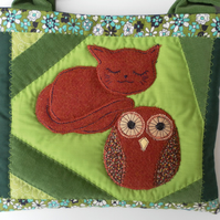 "Quilted ""Owl and the Pussycat"" , Baby Bag, Changing Bag, Book Bag"