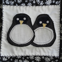 Penguin Pals, Quilted Bag, Baby Bag, Changing Bag, Book Bag