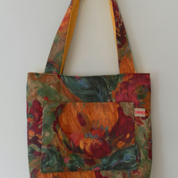 Small, Reversible Tote, Shoulder Bag