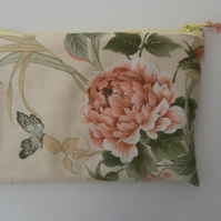 Make Up Bag, Floral, Muted Tones