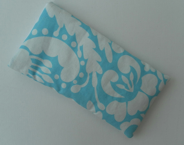 Turquoise and White Glasses Case