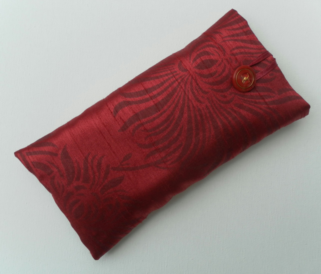 Deep Red Glasses Case