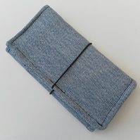 Bi-fold wallet, recycled Levi denim