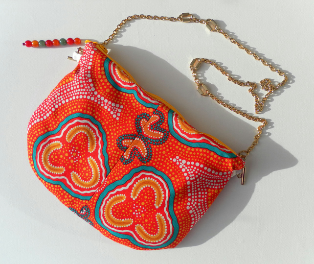 Shoulder Bag, Aboriginal Art, Exclusive one off design, Handbag