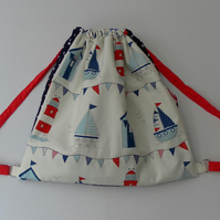 Drawstring Backpack, Duffel, Satchel, Beach Bag, baby changing bag, shoulder bag
