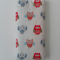 Sunglasses Case, Glasses Case, Owl Fabric