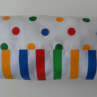 Bag, Candy Stripes and Spots, Small Make Up Bag, cosmetics
