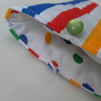 Glasses, sunglasses case, pouch,  Candy Stripes and Spots