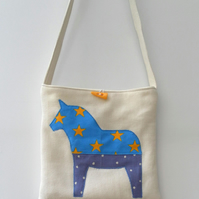 Crazy Horses, Tote, Shoulder Bag, Cross Body Bag, Stars, Dots, Rainbow, Grass