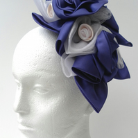 Purple Fascinator, Bride, Bridesmaid, Wedding Flowers