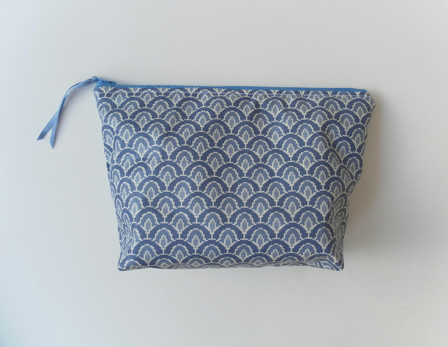 Make up Bag, Blue, Water Resistant