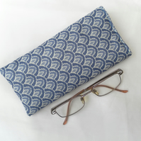 Blue Glasses Case, padded sunglasses case
