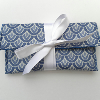Blue Jewellery Pouch