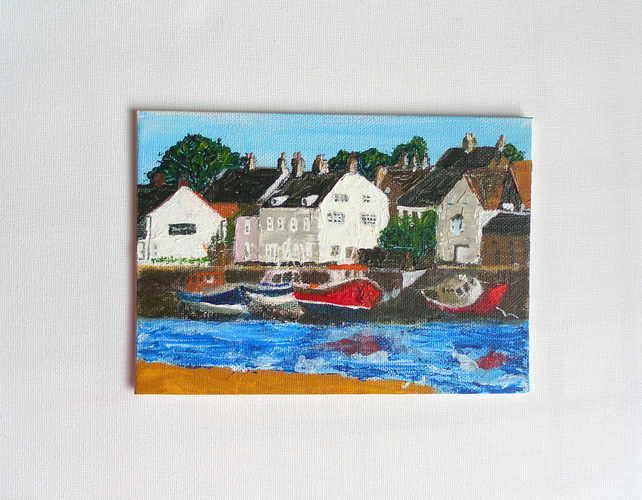 Wells-Next-the-Sea, Low Tide, original acrylic painting