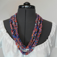 Necklace and bracelet, Plaited Fabric, Three Braid Necklace, postage free!