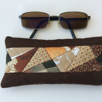 Glasses Case, sunglasses case, brown