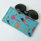 Glasses, sunglasses soft case, fun bird fabric
