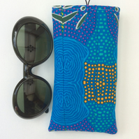 Sunglasses case, glasses case, Aboriginal Art