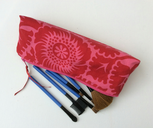 Make up bag, cosmetics,  zipped pouch, storage bag