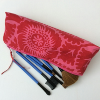 Make up bag, cosmetics,  zipped pouch, storage bag, pencil case