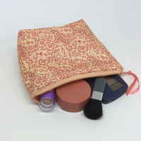 Small make up bag, cosmetics, zipped pouch, purse
