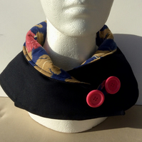 Navy blue neck warmer, scarf, snood, cowl