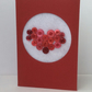 Valentine's Day Card, Red Button filled heart, red Card