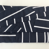 Clutch, Handbag, Freestyle Patchwork Quilting, navy and white