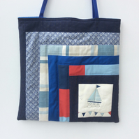 Large tote, baby bag, beach bag, shopping bag, nautical