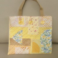 Handbag, small tote, shades of yellow