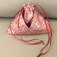 Drawstring bag, make up bag,