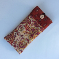 Glasses case, sunglasses case, Indian cotton