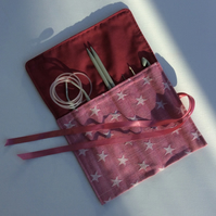 Crochet hook,  knitting needle roll, case