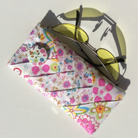 Glasses, sunglasses case,  patchwork, floral