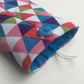 Glasses case, sunglasses case, triangles, turquoise lining