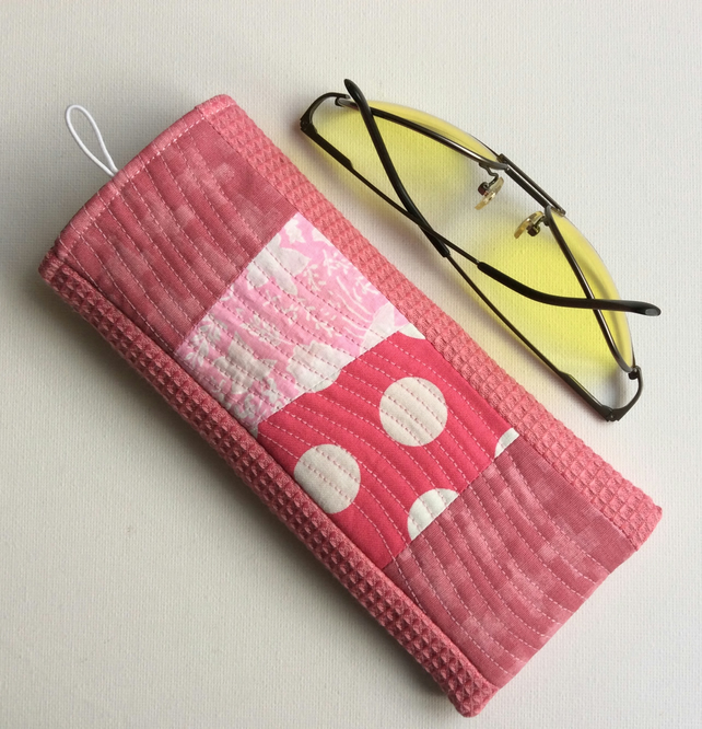 Glasses Case, sunglasses case, shades of pink