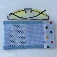 Glasses, sunglasses case, patchwork, dots