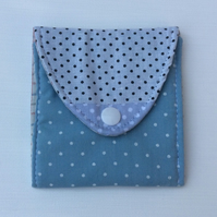 Small Coin Purse, patchwork with dots.