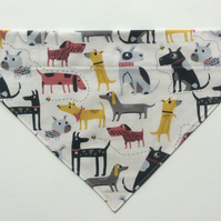 Over  the collar large dog bandana, dog fabric