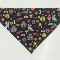 Over  the collar small dog bandana, dog fabric