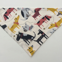 Over  the collar small to medium dog bandana, dog fabric
