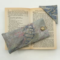 Muted shades, Glasses Case and matching corner book mark