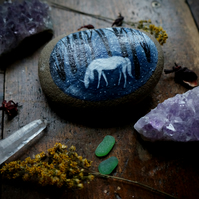 Unicorn Miniature Painting, Stone Painting