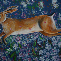 Hare with Spring Flowers