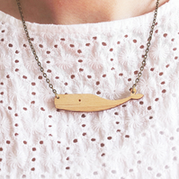 Wooden Sperm Whale Necklace