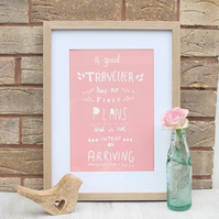A4 Inspirational Travel Quote Print