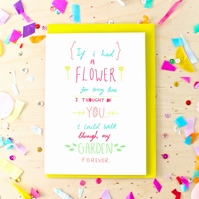 Flower Garden Sentimental Greeting Card