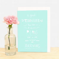 Travel Quote Greeting Card-5 Colours