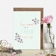 Fresh Beginning Floral Greeting Card