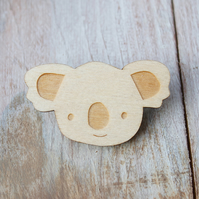 Wooden Koala Brooch